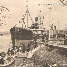 Postales: PASAJES Nº15 DETALLE DEL PUERTO DE ANCHO C. EN 1911. Lote 130763772