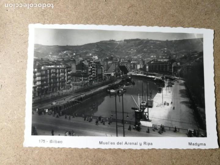 POSTAL DE BILBAO. MUELLES DEL ARENAL Y RIPA. (Postales - España - País Vasco Moderna (desde 1940))