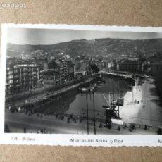Postales: POSTAL DE BILBAO. MUELLES DEL ARENAL Y RIPA.. Lote 130856620