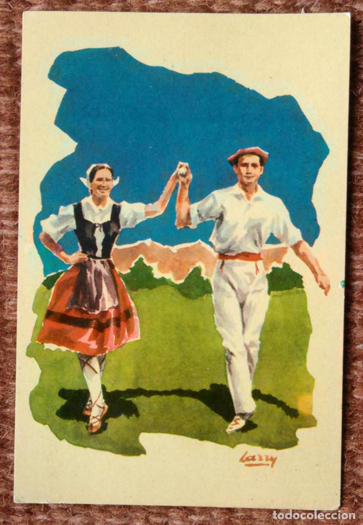 DANZAS VASCAS - EUSKO DANTZA - INDAUCHU EDITORIAL (Postales - España - País Vasco Moderna (desde 1940))