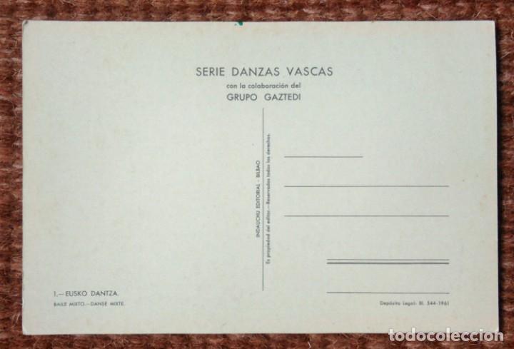 Postales: DANZAS VASCAS - EUSKO DANTZA - INDAUCHU EDITORIAL - Foto 2 - 131028620