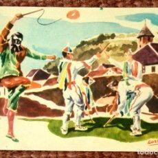 Postales: DANZAS VASCAS - OTXAGABI'KO DANTZA - INDAUCHU EDITORIAL. Lote 131028780