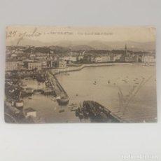 Postales: 5 SAN SEBASTIÁN, VISTA GENERAL DESDE EL CASTILLO, CIRCULADA, FECHADA EL 27 DE JULIO DE 1920. Lote 131133232