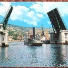 Postales: BILBAO - PUENTE BASCULANTE DEL GENERALISIMO. Lote 132224722