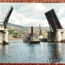 Postales: BILBAO - PUENTE BASCULANTE DEL GENERALISIMO. Lote 132224822