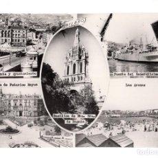 Postales: POSTAL DE BILBAO, CINCO VISTAS, DANIEL ARBONES. Lote 132250814