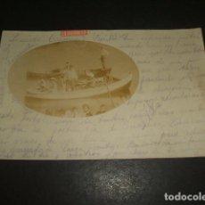 Postales: ONDARROA VIZCAYA POSTAL FOTOGRAFICA GIRA EN BARCA POR LA RIA 1903 FAMILIA ARGUINZONIZ DE DURANGO. Lote 132542526