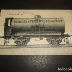 Postales: SESTAO NERVION BILBAO SOCIEDAD ESPAÑOLA DE CONSTRUCCION NAVAL TREN VAGON CISTERNA SHELL. Lote 132717074