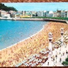Postales: SAN SEBASTIAN - PLAYA DE LA CONCHA. Lote 132820782