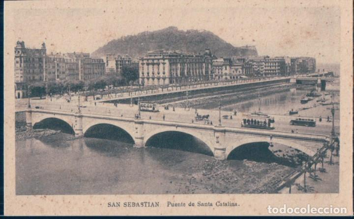 POSTAL SAN SEBASTIAN - PUENTE DE SANTA CATALINA - ARRIBAS (Postales - España - Pais Vasco Antigua (hasta 1939))