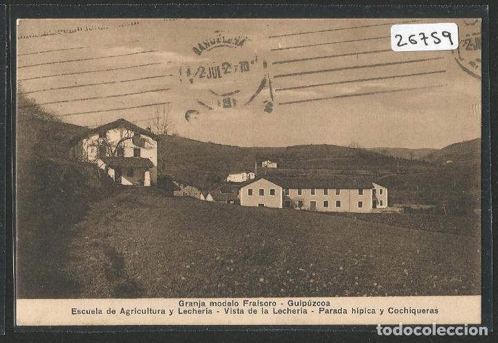 GRANJA MODELO FRAISORO - GIPUZKOA - ESCUELA DE AGRICULTURA Y LECHERÍA - 26759 (Postales - España - Pais Vasco Antigua (hasta 1939))