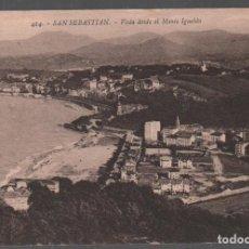 Postales: SAN SEBASTIÁN / VISTA DESDE EL MONTEL IGUELDO . EDIT . GALARZA Nº 414 / P.MUNDI/P.VASCO-70. Lote 133809534