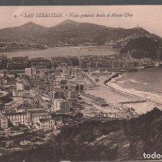 Postales: SAN SEBASTIAN . VISTA GENERAL DESDE EL MONTE ULIA / EDIT. GALARZA Nº1 / P.MUNDI/P.VASCO-71. Lote 133811434