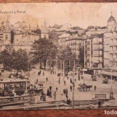 Postales: POSTAL ANTIGUA DE BILBAO- BOULEBAR Y ARENAL- CIRCULADA 1919. Lote 133822222
