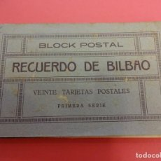 Postales: RECUERDO DE BILBAO. BLOC 20 TARJETAS POSTALES. ESTANCO DEL BOULEVARD.. Lote 133826438