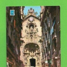 Postales: POSTAL - CALLE MAYOR , FACHADA IGLESIA SANTA MARÍA - SAN SEBASTIAN -. Lote 134006150