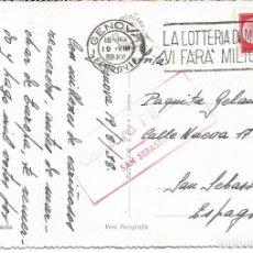 Postales: SANSEBASTIAN-CENSURA MILITAR. Lote 134027046