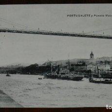 Postales: POSTAL DE PORTUGALETE, VIZCAYA, PUENTE VIZCAYA, ED. L.G. NO CIRCULADA.. Lote 134204710