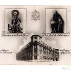 Postales: BILBAO.- COLEGIO CALASANCIO P.P.ESCOLAPIOS. NUESTRA SEÑORA ESCUELAS PIAS. SAN JOSÉ DE CALASANA. Lote 134826554