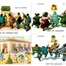 Postales: LOTE DE 4 TARJETAS POSTALES BALNEARIO DE CESTONA. AGUAS DE CESTONA Y SUS EFECTOS. GIPUZKOA. Lote 135121803