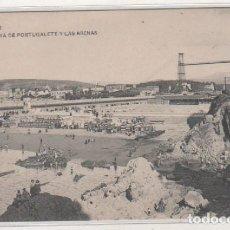 Postales: BILBAO. 1042 M. A. PLAYA DE PORTUGALETE Y LAS ARENAS. SIN CIRCULAR. . Lote 135190494