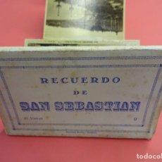 Postales: RECUERDO DE SAN SEBASTIAN. BLOC EDICIONES ARRIBASL. 10 POSTALES. Lote 135428794