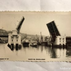Postales: BILBAO. POSTAL NO.337, PUENTE DEL GENERALISIMO. EDITA: FOTO MARTINEZ (A.1956). Lote 136657764