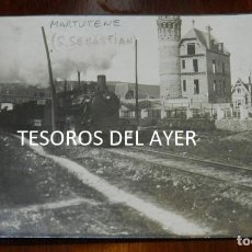 Postkarten - FOTO POSTAL DE MARTUTENE, SAN SEBASTIAN, FERROCARRIL, LOCOMOTORA, NO CIRCULADA. - 138115282
