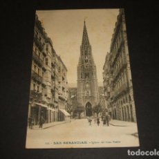 Postales: SAN SEBASTIAN IGLESIA DEL BUEN PASTOR. Lote 138859534