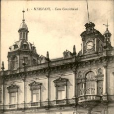 Postales: 3 – HERNANI – CASA CONSISTORIAL – GALARZA – CIRCULADA. Lote 138882870
