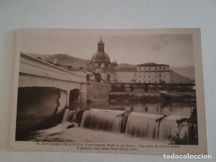 LOYOLA, SANTUARIO, VISTA DESDE RIO UROLA, GUIPUZCOA (Postales - España - Pais Vasco Antigua (hasta 1939))