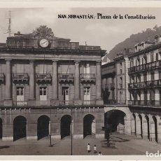 Postales: SAN SEBASTIAN, PLAZA DE LA CONSTITUCION, GUIPUZCOA. Lote 139186042