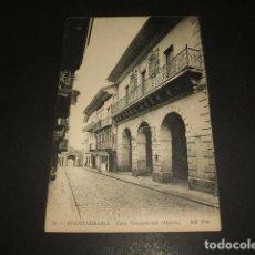 Postales: FUENTERRABIA GUIPUZCOA CASA CONSISTORIAL. Lote 139238154