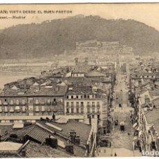 Postales: BONITA POSTAL - SAN SEBASTIAN - VISTA DESDE EL BUEN PASTOR. Lote 139663506