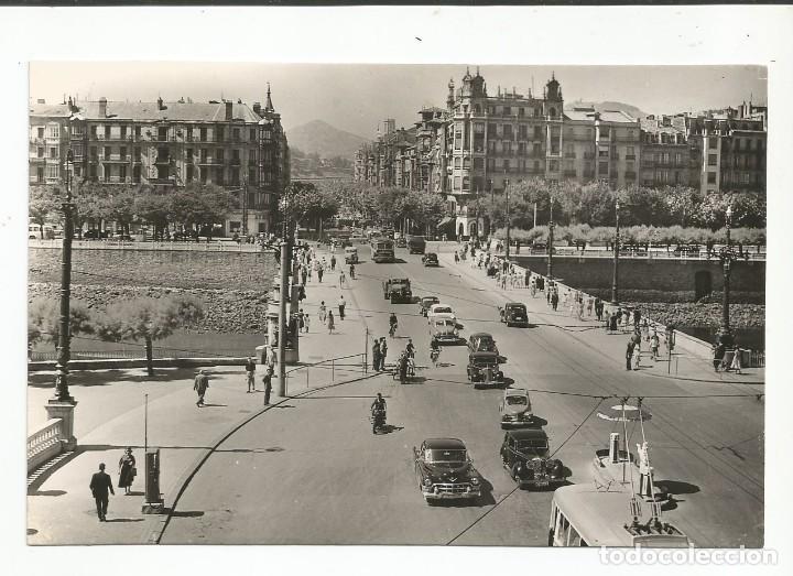 SAN SEBASTIÁN - PUENTE STA. CATALINA Y AV. DE ESPAÑA - Nº 505 ED. DARVI (Postales - España - País Vasco Moderna (desde 1940))