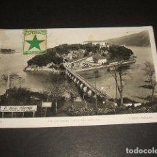Postales: ISLA DE CHACHARRAMENDI VIZCAYA POSTAL ESCRITA EN ESPERANTO MATASELLOS AMBULANTE, LLEGADA Y DEVUELTA . Lote 140070966