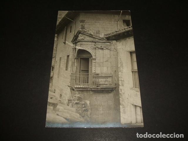 VERGARA GUIPUZCOA BALCON RENACENTISTA POSTAL FOTOGRAFIA 1915 POR ANDRES PIRALA (Postales - España - Pais Vasco Antigua (hasta 1939))
