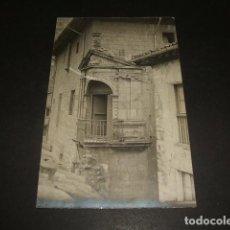 Postales: VERGARA GUIPUZCOA BALCON RENACENTISTA POSTAL FOTOGRAFIA 1915 POR ANDRES PIRALA. Lote 140129402