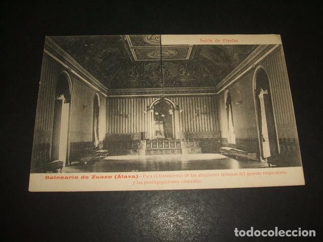 BALNEARIO DE ZUAZO ALAVA SALON DE FIESTAS (Postales - España - Pais Vasco Antigua (hasta 1939))