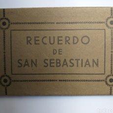 Postales: LIBRO ÁLBUM ACORDEÓN 12 POSTALES RECUERDO DE SAN SEBASTIÁN FOTO GALARZA. Lote 140209846