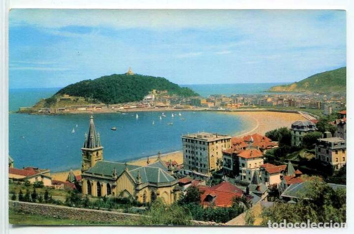 TARJETA POSTAL - SAN SEBASTIAN / VISTA PARCIAL DESDE ALDAPETA (Postales - España - País Vasco Moderna (desde 1940))