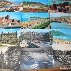 Postales: LOTE DE 12 POSTALES DE PAIS VASCO - POSTCARD SPAIN - ANTIGUAS VARIOS AÑOS -. Lote 140288818