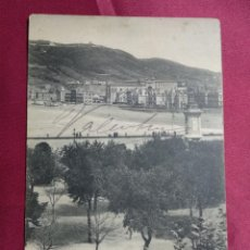 Postales: SAN SEBASTIAN. PASEO DE LA ZURRIOLA Y BARRIO DE GROS. Nº 1516. HAUSER Y MENET. Lote 140532274