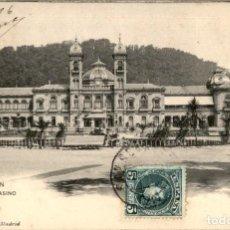 Cartoline: SAN SEBASTIAN – EL CASINO . 49 HAUSER Y MENET – SIN DIVIDIR – CIRCULADA. Lote 140904146