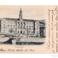 Postales: BILBAO.- RECUERDO DE BILBAO - AYUNTAMIENTO. Lote 141317570