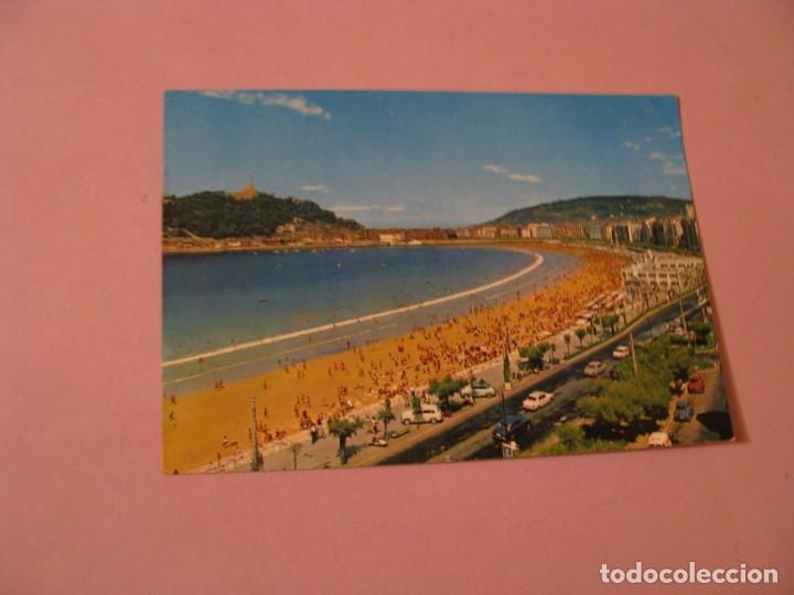 SAN SEBASTIAN. VISTA PARCIAL Y PLAYA. ED. BEASCOA. ESCRITA. (Postales - España - País Vasco Moderna (desde 1940))