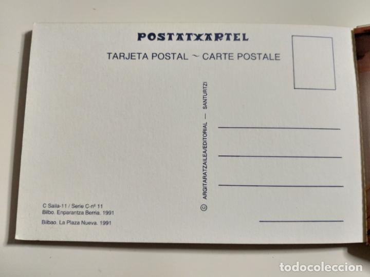 Postales: COLECCION DE POSTALES SOBRE LA PLAZA NUEVA DE BILBAO. AÑO 1991 - Foto 4 - 142059222