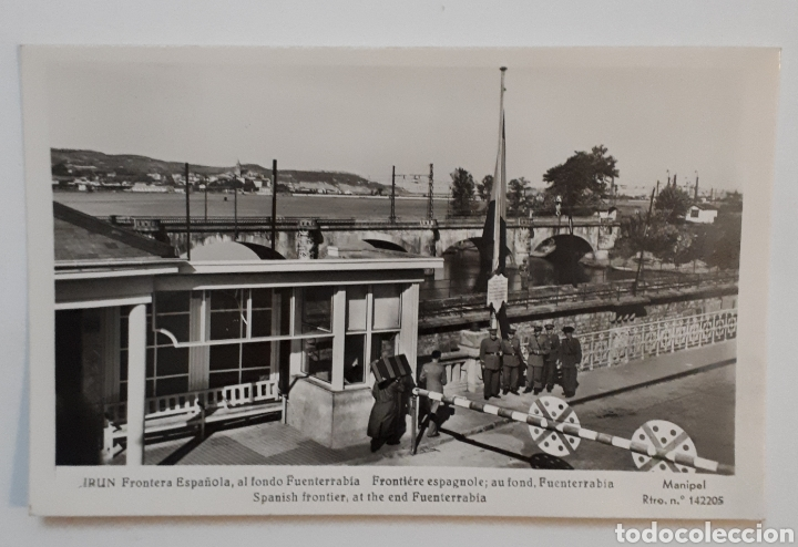 IRÚN. FRONTERA ESPAÑOLA, AL FONDO FUENTERRABÍA. MANIPEL (Postales - España - País Vasco Moderna (desde 1940))