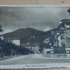 Postales: POSTAL TOLOSA PASEO DE SAN FRANCISCO ED. ARRIBAS Nº 25 AÑO 1951 14X9 CM.. Lote 143289986
