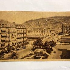 Postales: SAN SEBASTIÁN. POSTAL NO.180, PUENTE DE LA ZURRIOLA Y KURSAAL . EDITA: FOTO GALARZA (H.1940?). Lote 143290929